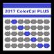 2017 ColorCal PLUS BLUE (C) by FourCatsApp