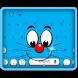 Blue Cat Keyboard Theme by Keyboard Creative Park