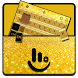 Gold Glitter Keyboard Theme by Love Free Themes
