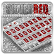 Silver Red Glitter Keyboard Theme by Creative Theme Designer