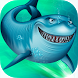 Angry White Shark Race Attack by Blusee