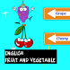 English vocabulary fruit words by kids game learn