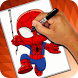 How to Draw Spiderman by Seventeen Studio Apps