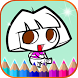 Coloring Book of Dora The Girl by Reccommend Game for Kids