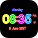 Neon Clock Digital Live Screen Widget LED Pro by super games play123