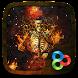 Fire Skull 3D Go Launcher Theme by ZT.art