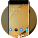 Theme for Lenovo K8 Plus HD: Gold Wallpaper by Stylish Theme Designer