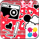 +HOMEアイコンパック Lovely heart by +HOME by Ateam