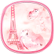 Paris Tower Diamond pink Theme by Best Custom Theme