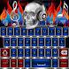 Scull On Fire Go Keyboard theme by spikerose