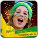 Brazil Independence Day Face Flag: Photo Frame by Masha Apps Studio