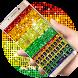 Diamond Gold Rainbow by Echo Keyboard Theme