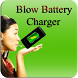 Blow to charge Battery Prank : Battery Saver