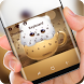 Cute Cup Cat Wallpaper Keyboard by Super Hot Themes Design Studio