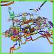Rainbow Coaster MCPE Map by Lakshmi Pratima