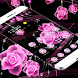 Theme Pink Rose Black Flowers Pendants by Theme Lovely