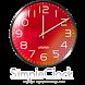 シンプルアナログ時計ウィジェット【RED】 by jfd