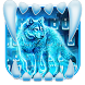 Neon Night Wolf Keyboard Theme by Super Cool Keyboard Theme