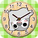 PESOGUIN WOODEN CLOCKS WIDGET by peso.apps.pub.arts