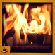 Burning Wood Fireplace by AF Labs