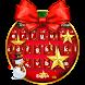 Christmas Bow Keyboard Theme by Dream Keyboard Creator