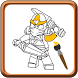 How To Color Lego Ninjago Adult Coloring by MoBroApps