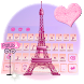 Luxury Pink Paris Keyboard Theme