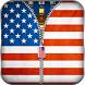 US Flag Zipper Lock by AndroBeings