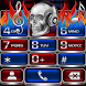 Scull on Fire EXDialer theme by spikerose