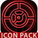OUTLINE RED icon pack black by Tapanifinal