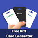 Free Gift Card Generator by Pamela Developer
