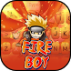 Fire Ninja Boy Theme&Emoji Keyboard by Music Emoji Keyboard Theme