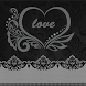 Black Heart Lace by Keyboard and HD Live Wallpapers