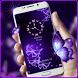 Butterfly gleam purple theme by lovethemeteam