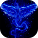Blue fiery bird live wallpaper by Attunable
