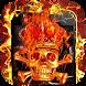 Fire Hell Skull Launcher Theme by Hiro studio