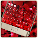Red Rose Romantic Luxury Love Keyboard Theme by Theme and keyboard design team