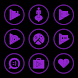 Purple On Black Icons By Arjun Arora