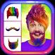 Crazy Man Hair Mustache Beard by Dexati