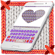 Knitted Heart Valentines Keyboard Theme by Art Theme Studio