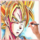 Learn To Draw Goku Characters by 3dDraw