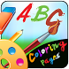 ABC coloring pages by 4DSoftTech