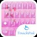 Keyboard Theme Glass Pink Flow by Luklek