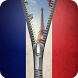 France Flag zipper Screen Lock by Group Support APPS