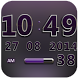 Digi Clock Widget Purple Star by Maystarwerk Clocks & Themes Vol.1