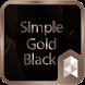 SimpleGoldBlack Launcher theme by SK techx for themes