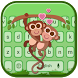 Lovely Monkey Keyboard Theme by Super Keyboard Theme