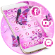 Pink Neon Butterfly Theme Wallpaper & Lock Screen by LXFighter-Studio