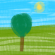 Painting - Lonely Tree by AppsForLuck