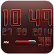 Digi Clock Widget Red Star by Maystarwerk Clocks & Themes Vol.1